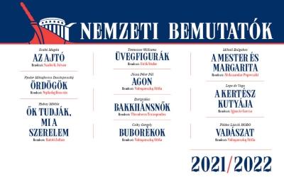 Nemzeti Színház - A 2021/22-es évad bérletei