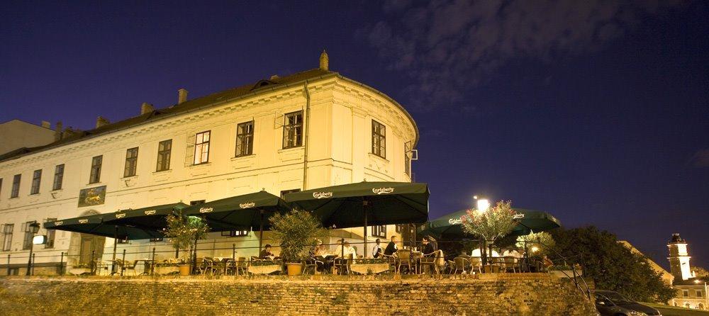 Az Arany Szarvas Ház előtt I. ker. Szarvas tér 1.